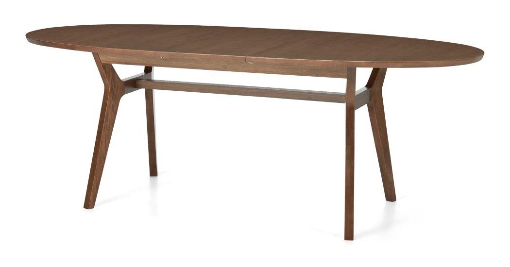 Jenson 6 8 Seat Oval Extending Dining Table Dark Stain Oak