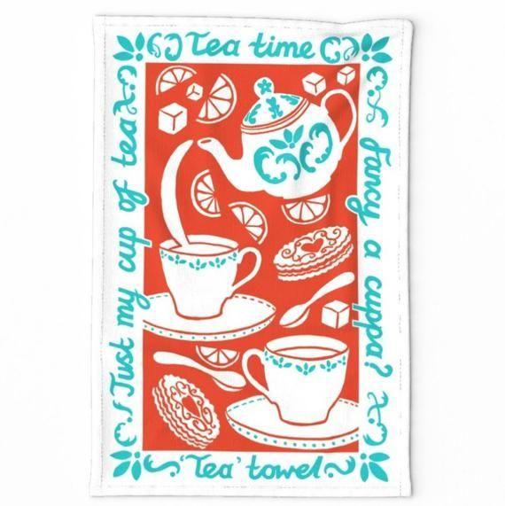 Fancy a Cuppa? Tea Towel printed on high quality linen cotton canvas #cuppatea Fancy a Cuppa? Tea Towel printed on high quality linen cotton canvas #cuppatea