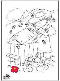 Coloriage apiculteur recherche google abeille - Dessin de ruche d abeille ...