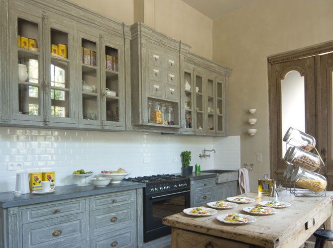 summer house in provence kitchen - great french country blue