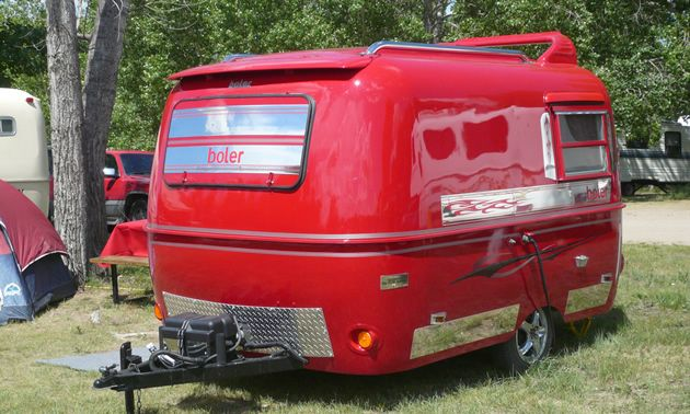 Painted Red Exterior On Camper Not A Boler But Love The