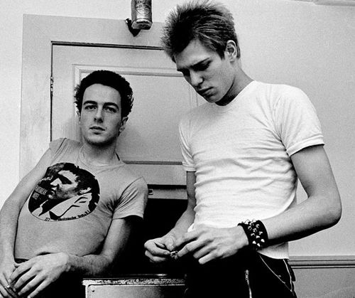 Joe Strummer and Paul Simonon by Adrian Boot