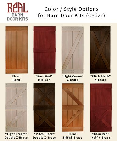 Red Sliding Barn Door western red cedar barn door - real sliding hardware | decor