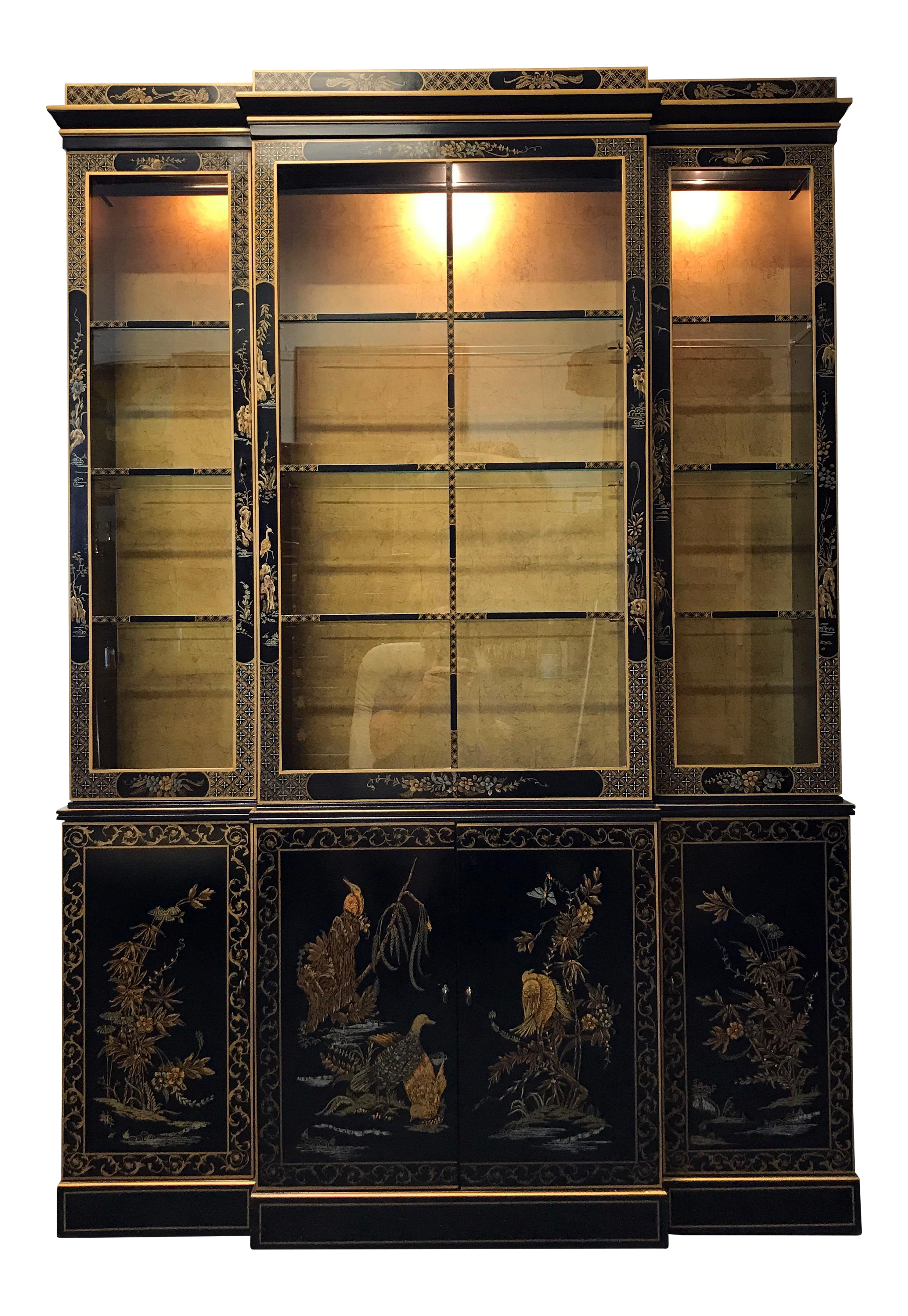 Merveilleux DREXEL HERITAGE Et Cetera Asian Chinoiserie Breakfront China Cabinet On  Chairish.com