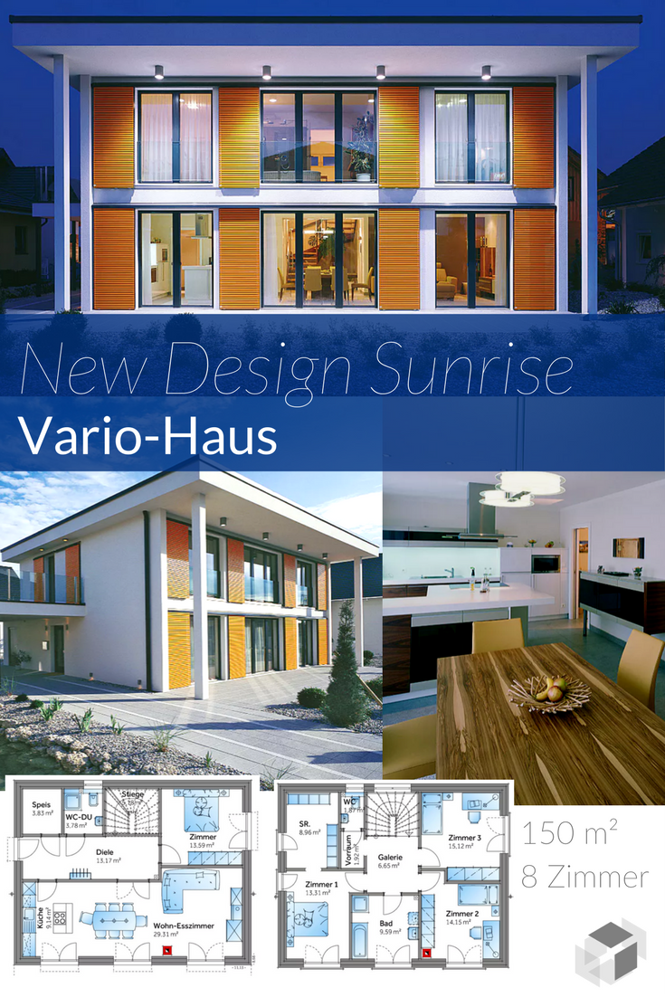 Dieses schicke Bauhaus von VarioHaus hat sogar einen KfW