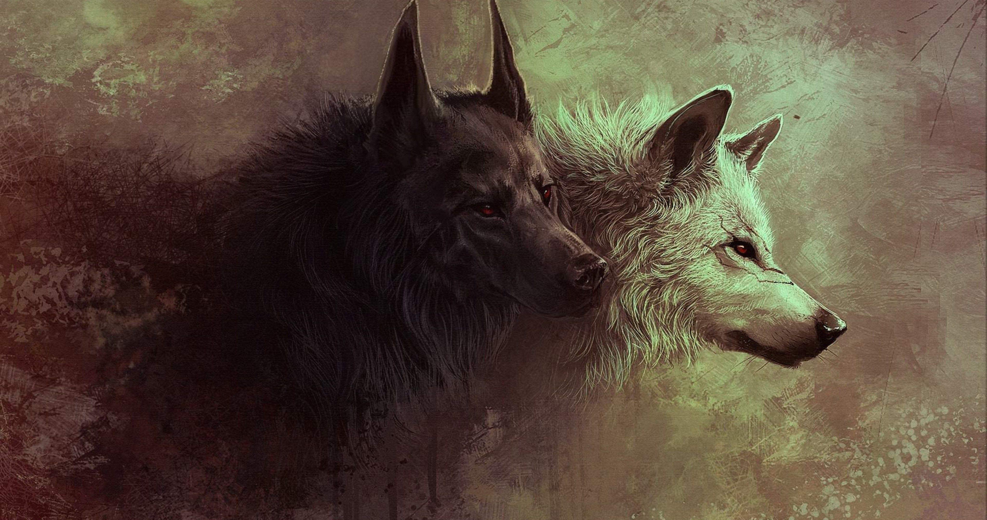 Red Eyes Wolfs 4k Ultra Hd Wallpaper Wolf Artwork Wolf Background Wolf Wallpaper