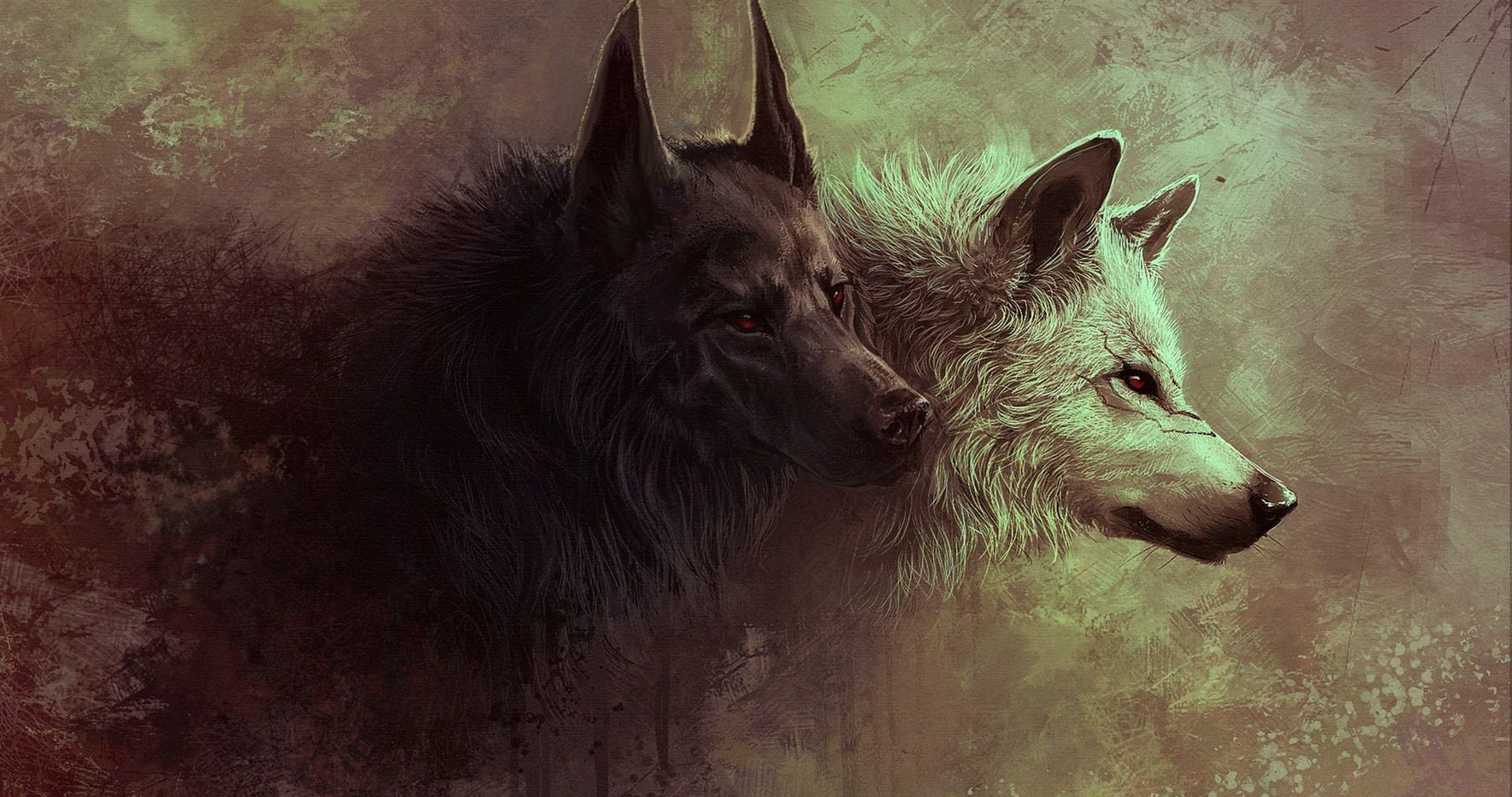 red eyes wolfs 4k ultra hd wallpaper ololoshenka