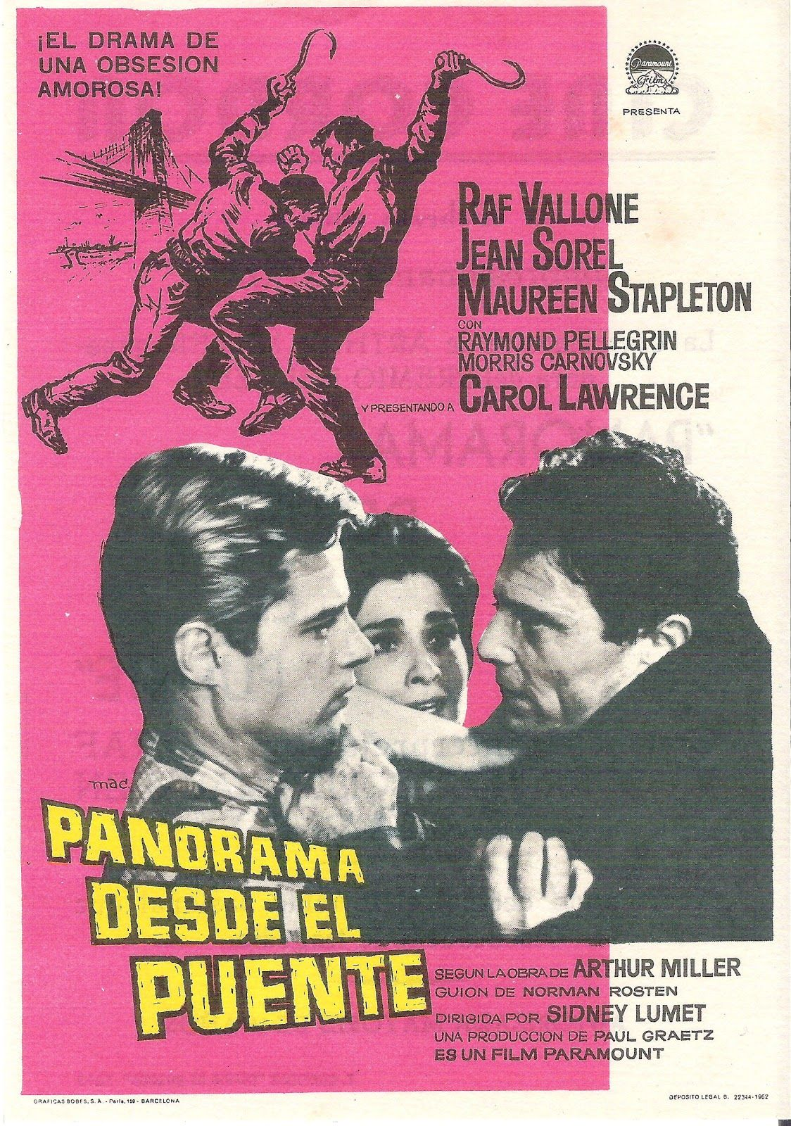Vu du pont (A View from the Bridge) (1962) Country: France. Director: Sidney Lumet.