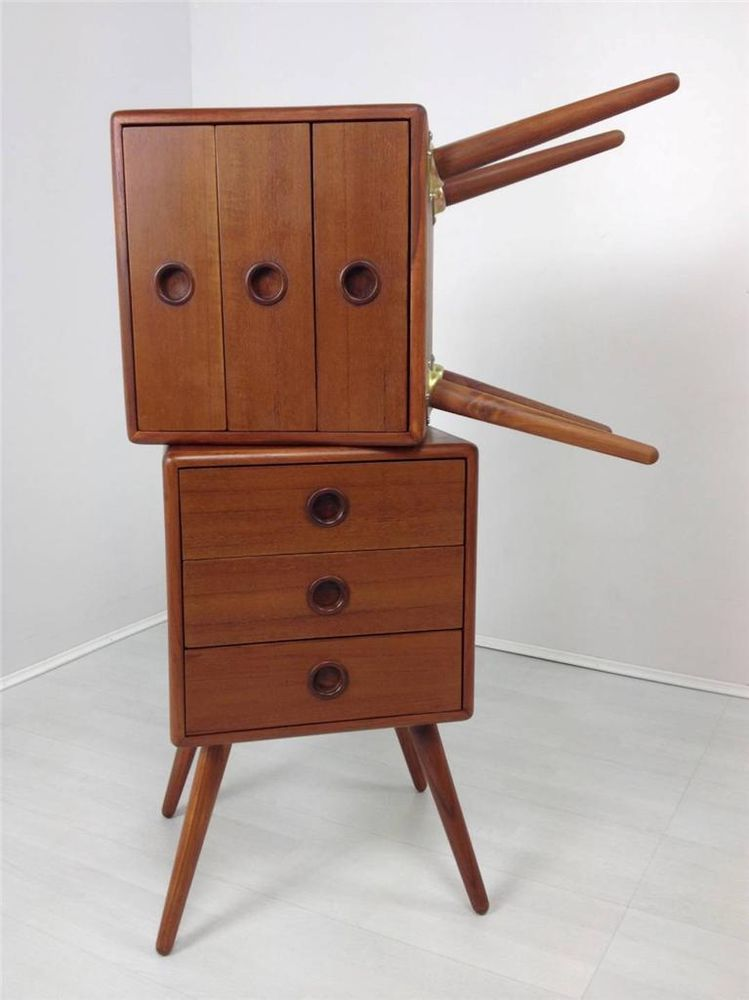 Retro Pair Of Teak Bedside Cabinets 1950 S 60 Style Danish Inspired