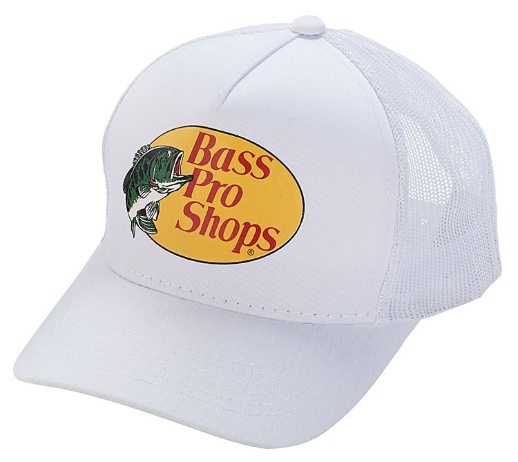 1b5f93452 White mesh cap for just $3.99 @Bass Pro Shops in Rancho Cucamonga ...