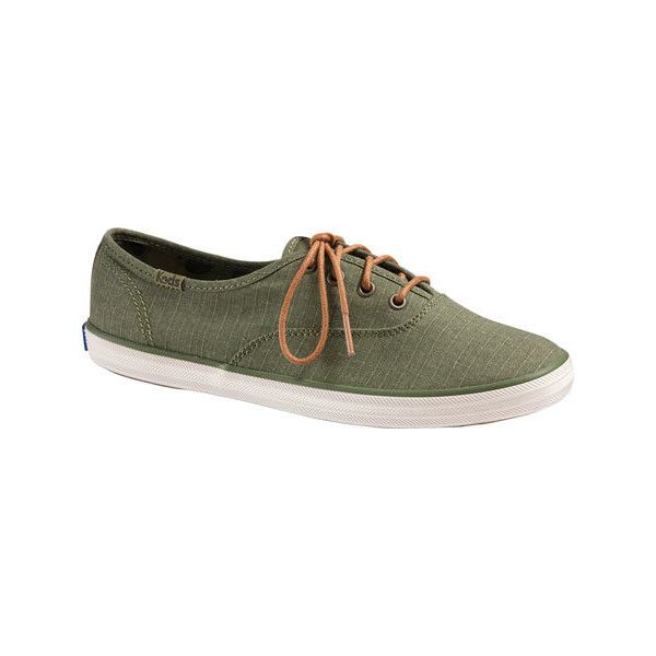 037026420ae Women s Keds Champion Ripstop Sneaker - Olive Ripstop Casual ( 50) ❤ liked  on Polyvore featuring shoes