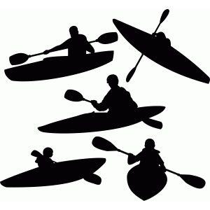 Silhouette Design Store Kayaking Set