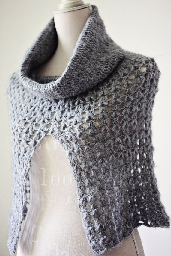 Crochet Pattern Ladies Cowl Poncho Capesponchoscollarshoods