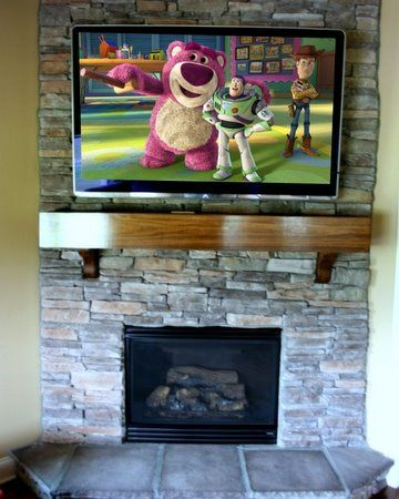 Perfect Idea To Mount The Tv Above The Fireplace Home Renovation