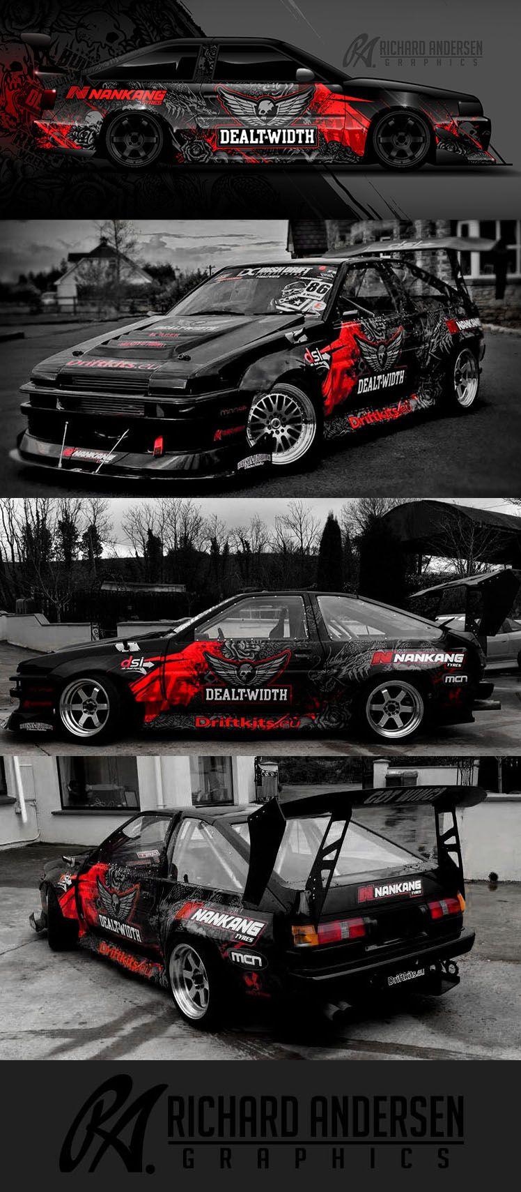 Richard Andersen Wrap Design Street And Track CarsRides - Racing car decals designpng race car wraps pinterest cars
