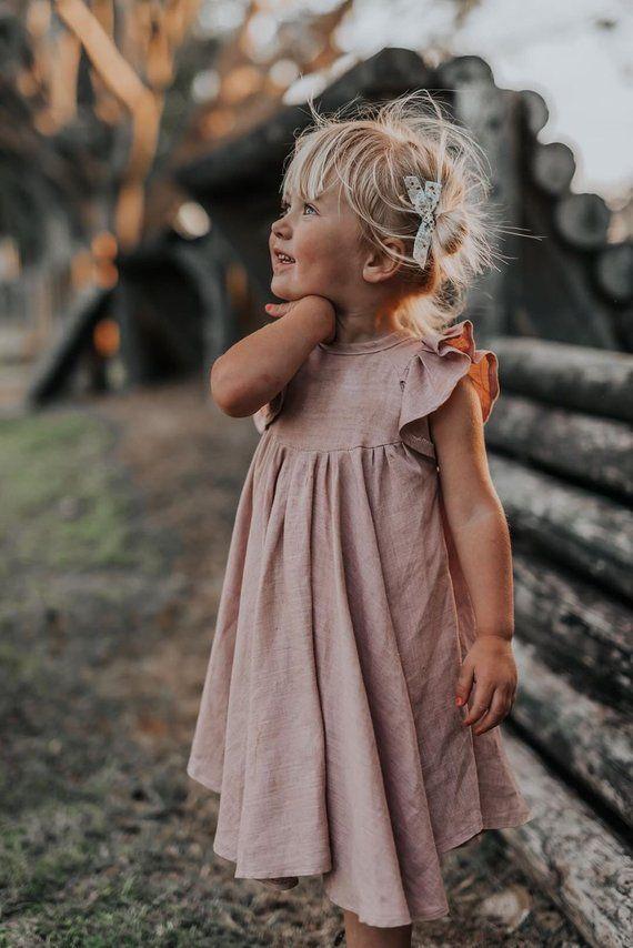 Dusty blush bamboo joint linen Savanna dress
