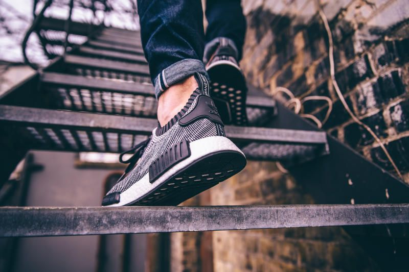 adidas nmd runner black on feet adidas nmd r1 primeknit women shoes