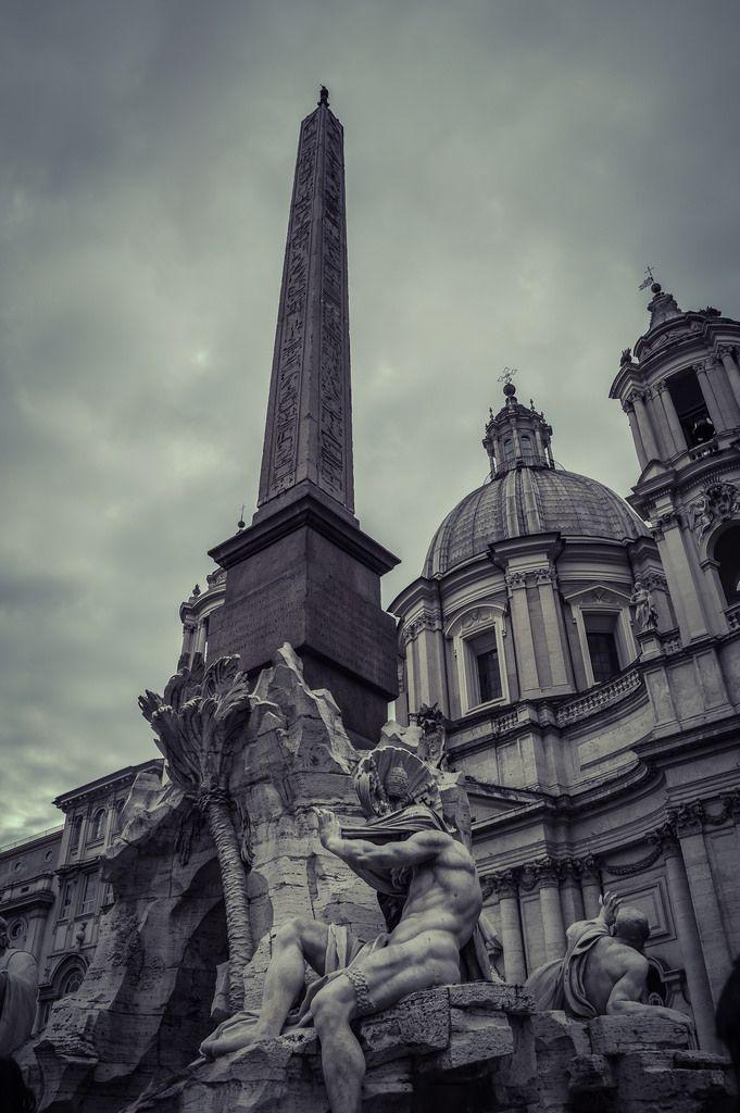 Fuente De Los Cuatro Ríos Piazza Navona Roma Italy Rome Italy Bernini