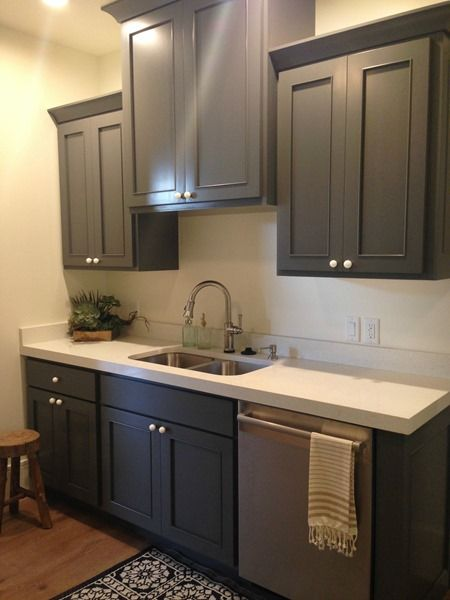 70 more cabinet paint colors home decor pinterest for Charcoal painted kitchen cabinets