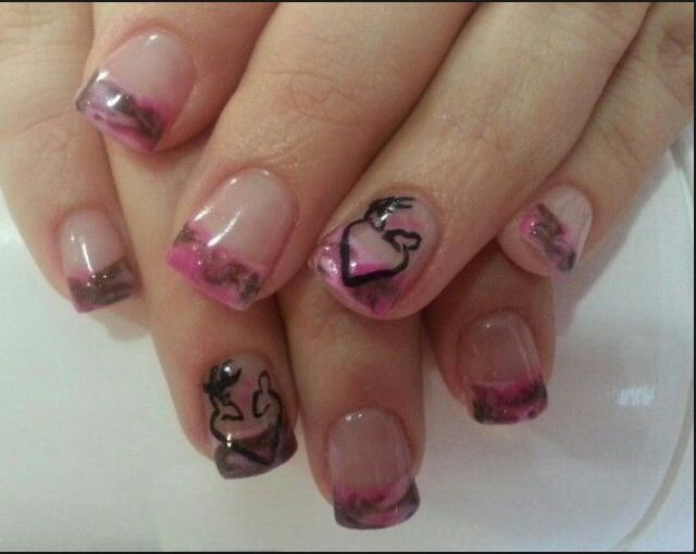 Pink Camo Nail Tips Nails Pinterest Pink Camo Nails Camo