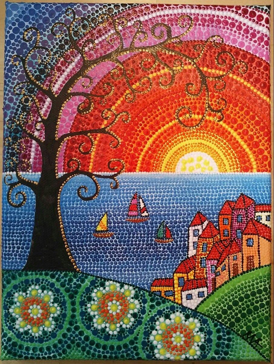 Pin By Mrudula Vellapalem On Dot Art Ideas Dot Art Painting