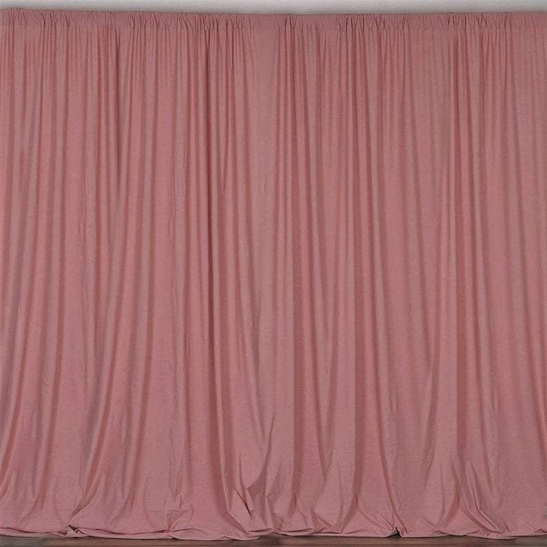 10 X 10 Ft Dusty Rose Curtain Polyester Backdrop Drapes Panels With Rod Pocket