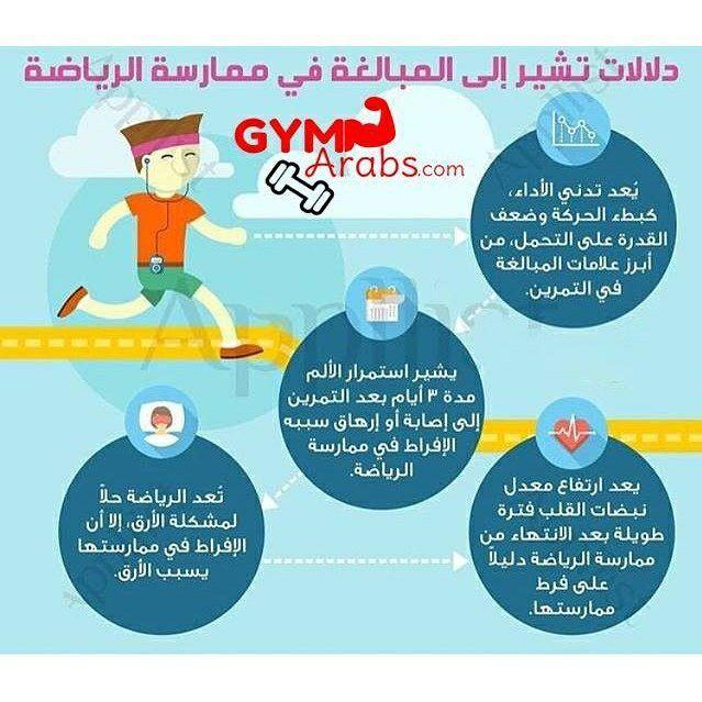 Gym Arabs On Instagram دلالات تشير إلى أنك تبالغ في ممارسة الرياضة فيتنس جيم طاقة قوة معلومات جيم Core Workout Infographic Authentic Resources Spanish