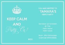 free hens party invitation