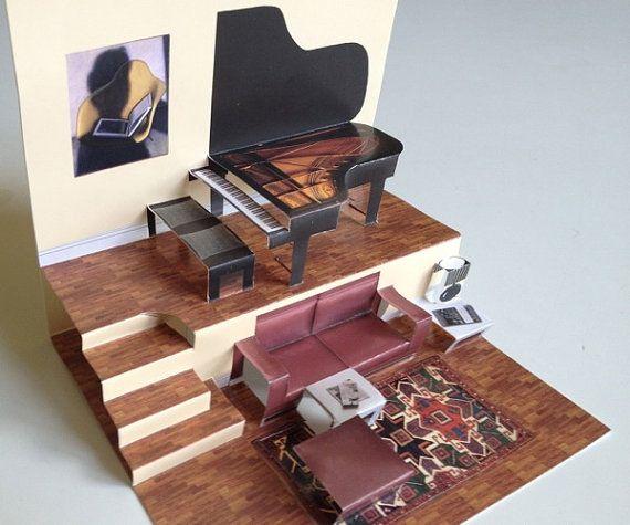 die pop up papiersatz haus enth lt alles sie diese zweigeschossige acht zimmer und unglaublich. Black Bedroom Furniture Sets. Home Design Ideas
