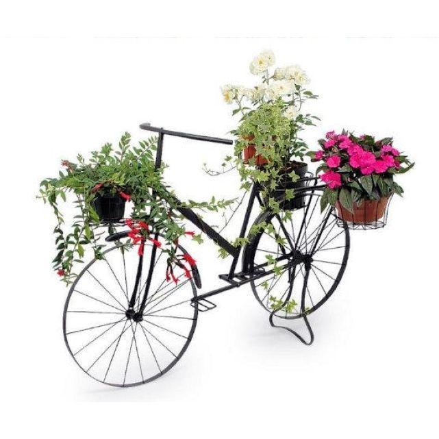 Superbe vélo de style en métal laqué noir - Grand modèle ...