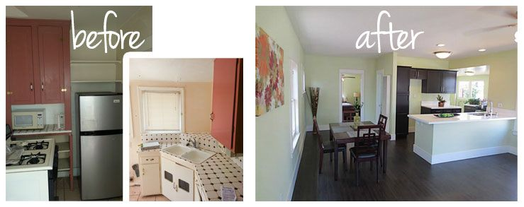 Small galley kitchen remodel before and after google for Small galley kitchen renovation