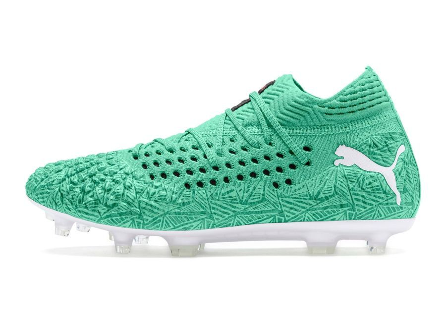 Puma Future 4 1 Netfit Fg Ag Winterized Green Puma White Puma Football Boots Football Boots Football Shoes