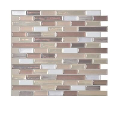 Smart Tiles 9 125 In X 10 25 Muretto Durango Mosaic Decorative Wall Tile Brown 6 Pack Sm1053 At The Home Depot