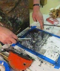 Corazón de Papel de piedra: # 18 Demo & Tutorial porción Rebecca Medio cera Crowell-Frio, Carbon En Polvo en TerraSkin 16 pt