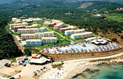 Mareblue Beach, St Spiridon, Corfu, Greece  Corfu http://www.robinhoodflights.co.uk/destinations/corfu