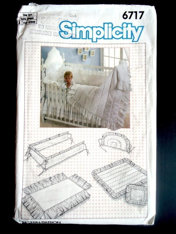 Simplicity Baby Room Nursery Sewing Pattern Infant Crib Bedding