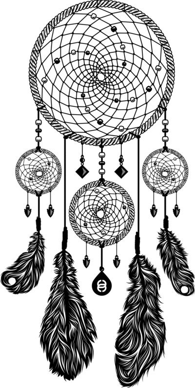 Dream Catcher Black And White Drawing Dreamcatcher