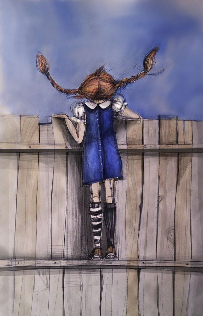 #illustration #fairy tale  #girl #Pippi Longstocking #character #graphics