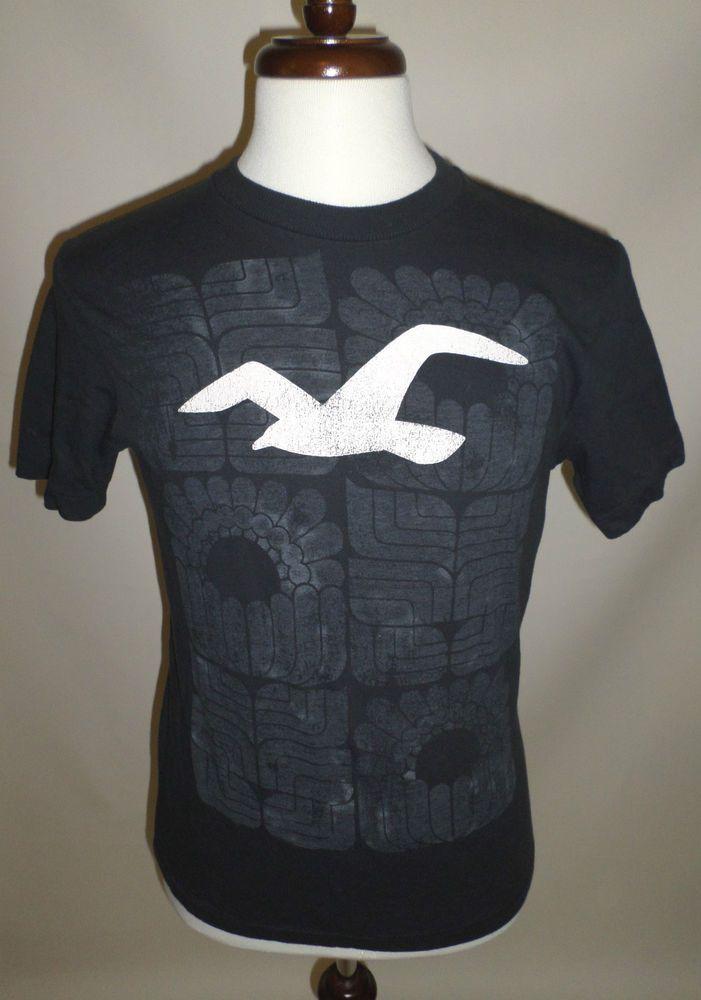 mens size m slate blue hollister graphic t shirt bird