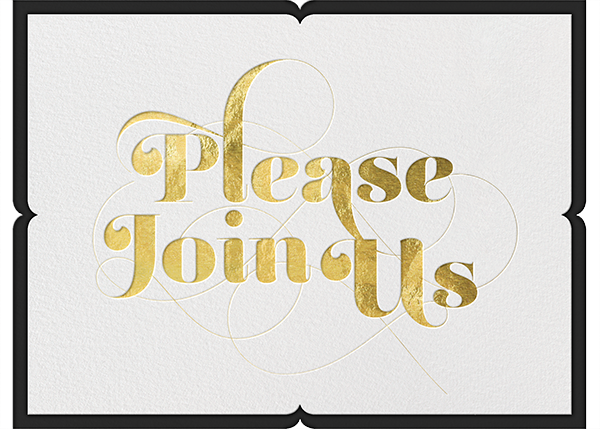 Please Join Us Gold Holiday Invitations Holiday Party Invitations Party Invitations