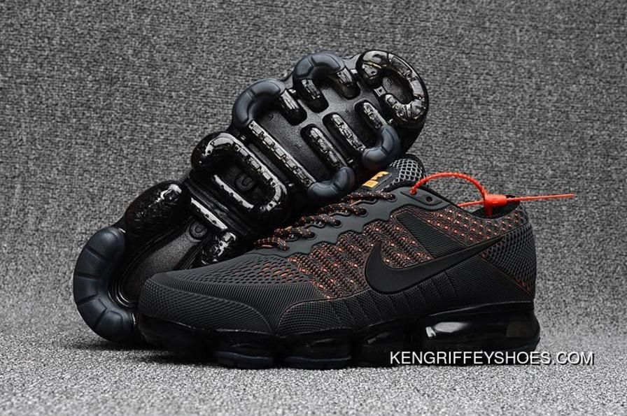 Men S Nike Air Vapormax Flyknit 2018 Anthracite Grey Orange New Style Price 93 61 Nike Shoes Air Max Cheap Nike Air Max Sneakers Men Fashion