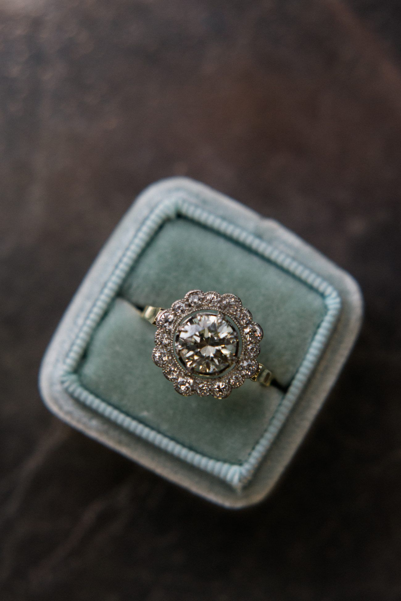 Shopping for a vintage engagement ring once wed wedding ring