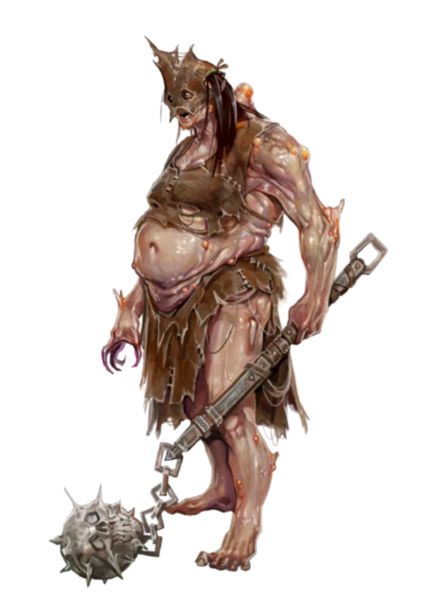 Female Ash Giant Cleric - Mother Grim Moon - Pathfinder PFRPG DND ...