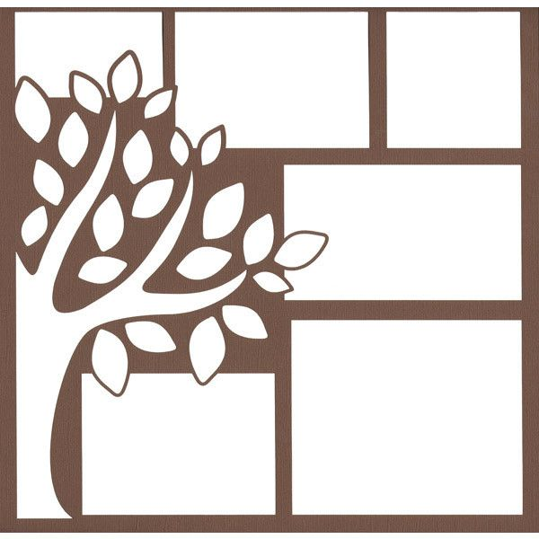 Fall Tree 2 x 12 Overlay Laser Die Cut ($4.50) ❤ liked on Polyvore