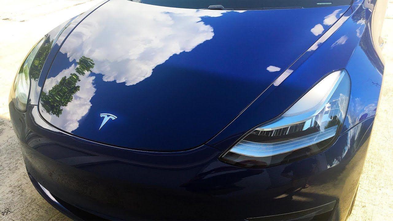 2018 Tesla Model 3 Blue A Miracle Detailing CQuartz