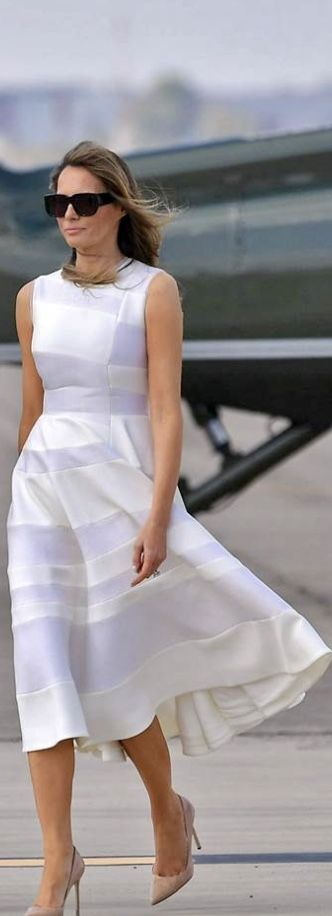 First Lady Melania Trump in Roksanda