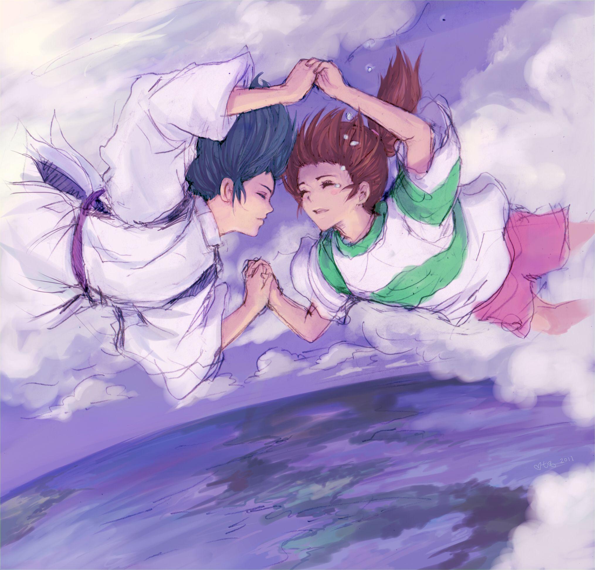 /Spirited Away/#1570908 - Zerochan   Hayao Miyazaki   Studio Ghibli / Ogino Chihiro and Haku