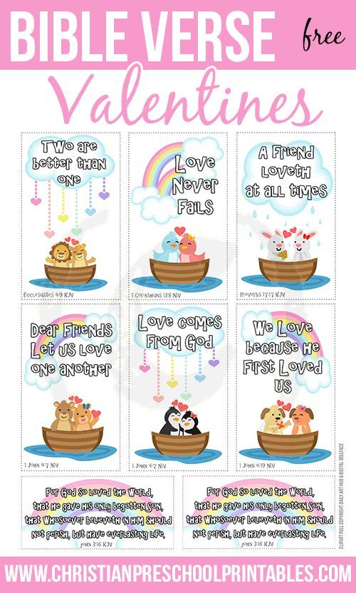 free (adorable!!) bible verse valentine's day cards. print a set, Ideas