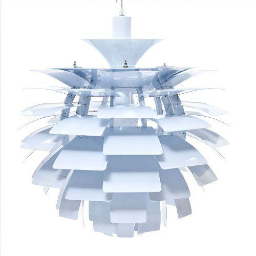 Lexmod 28 artichoke style chandelier modern lamp in white http bit