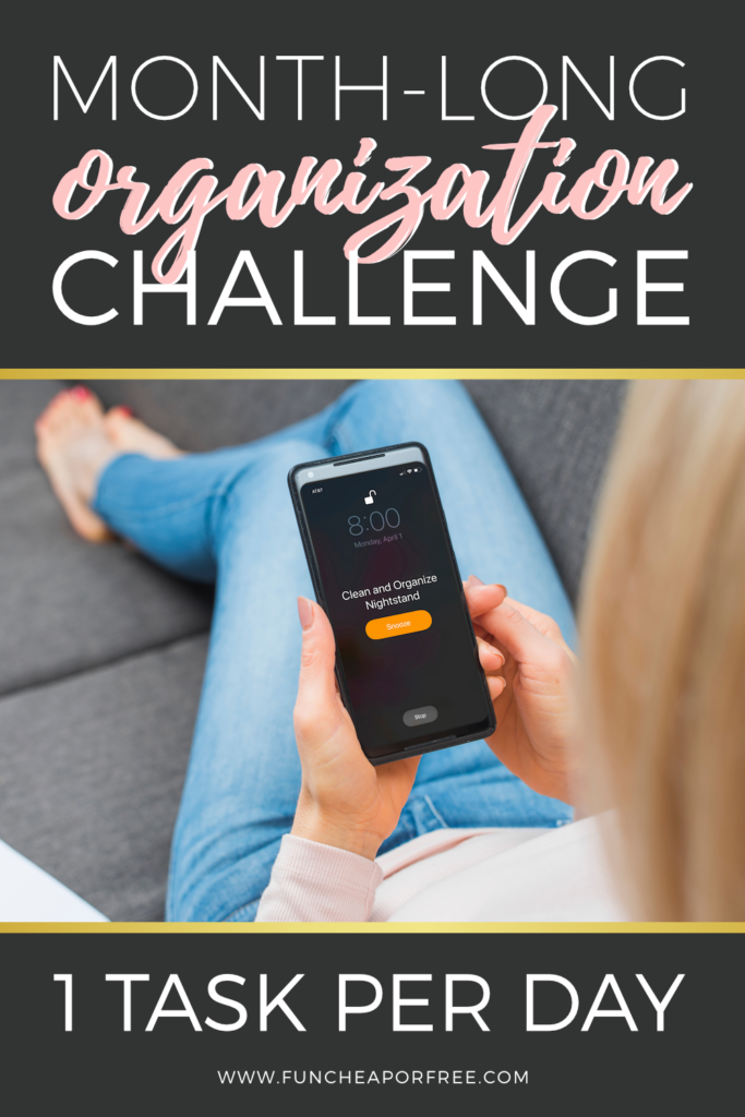 Focus On Organization Month Challenge Fun Cheap Or Free In 2020